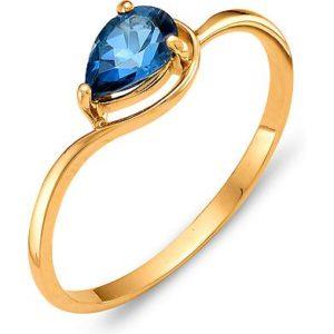 Кольцо с 1 топазом из красного золота (арт. ж-8380к)
