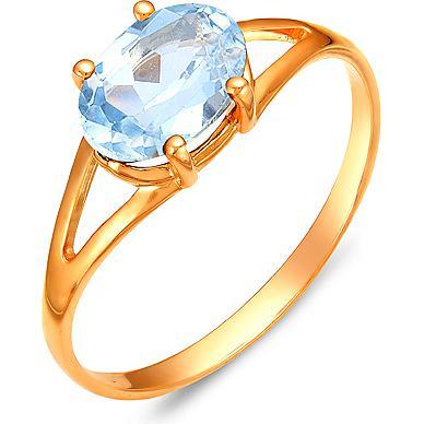 Кольцо с 1 топазом из красного золота (арт. ж-8360к)