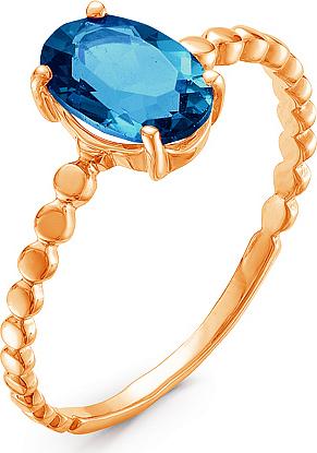 Кольцо с 1 топазом из красного золота (арт.ж-8366к)