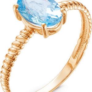 Кольцо с 1 топазом из красного золота (арт.ж-8367к)