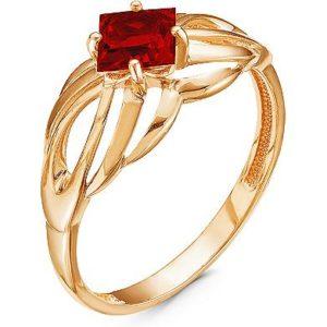 Кольцо с 1 гранатом из красного золота (ж-20к)