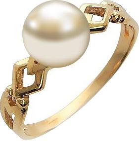 Кольцо с жемчугом из красного золота (арт. ж-8657к)