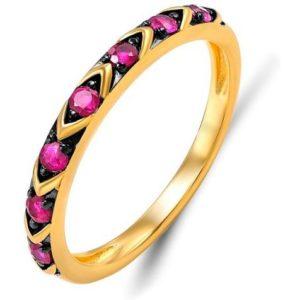 Кольцо с 7 рубинами из красного золота (арт.ж-9453к)