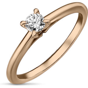 Кольцо с 1 бриллиантом из красного золота (арт. ж-9297к)