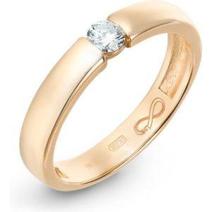 Кольцо с 1 бриллиантом из красного золота (арт.ж-9234к)