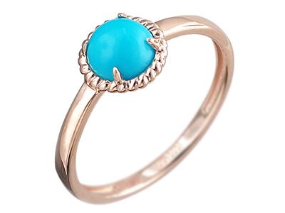 Женское кольцо с бирюзой