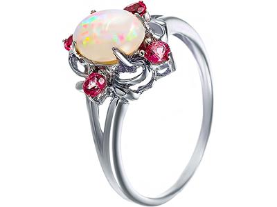 женские кольца с опалом