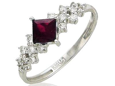 Женские кольца с рубином