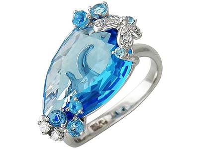 женские кольца с топазом
