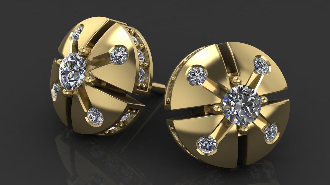 Золотые пусеты Малютка-1