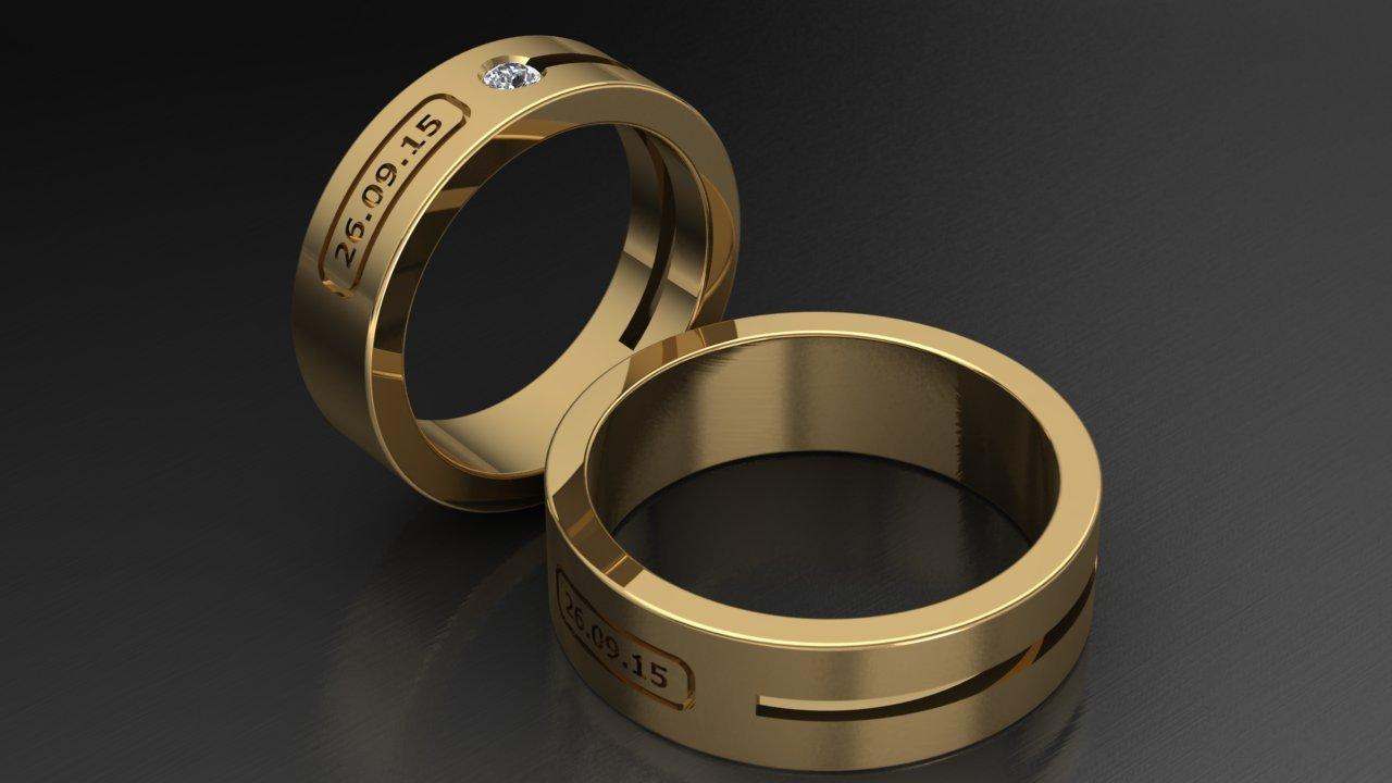 Обручальные кольца с датами