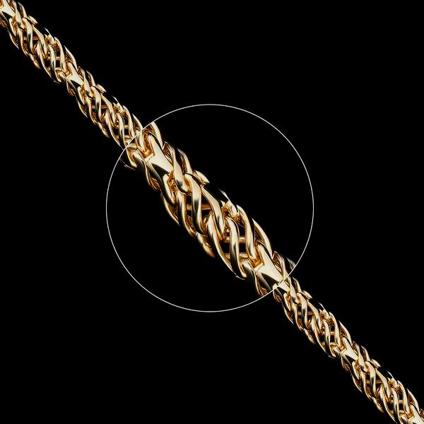 Золотые цепочки «Ажурное» ручного плетения