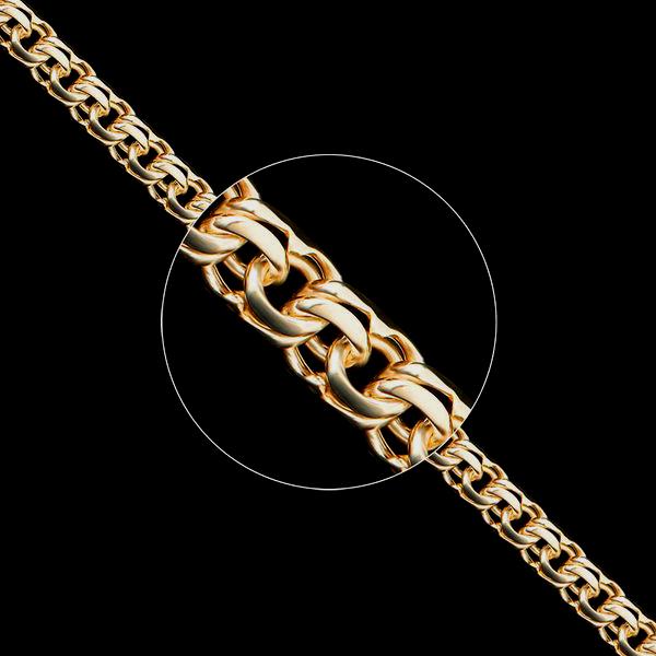 Золотые цепочки Бисмарк ручного плетения
