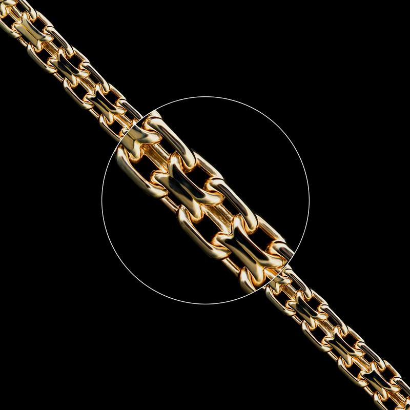 Золотые цепочки «Якорное» ручного плетения