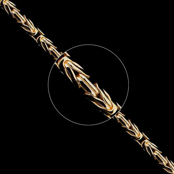 Золотые цепочки «Лисий хвост» ручного плетения