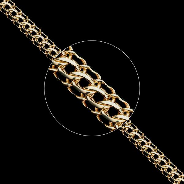 Золотые цепочки «Питон» ручного плетения