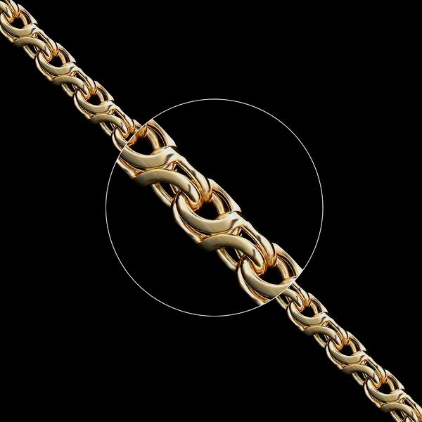 Золотые цепочки «Восьмерка» ручного плетения