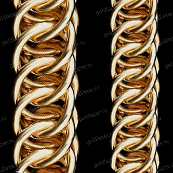 Золотая цепочка Персидского плетения