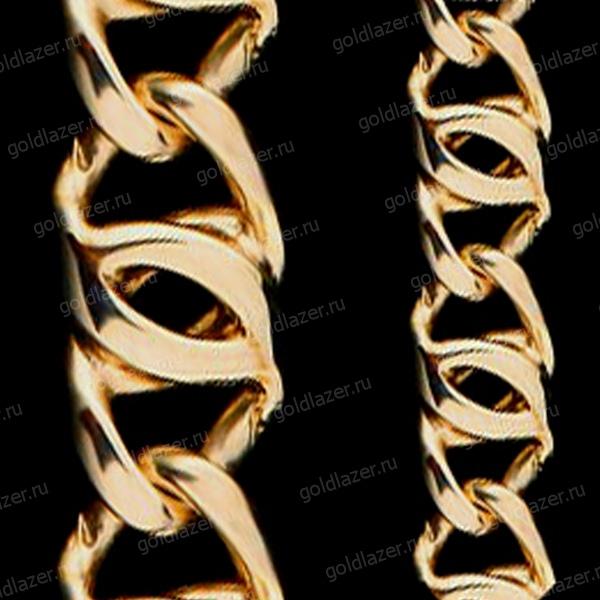 Золотая цепочка ручного плетения Скрепка